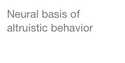 Neural basis of altruistic behavior